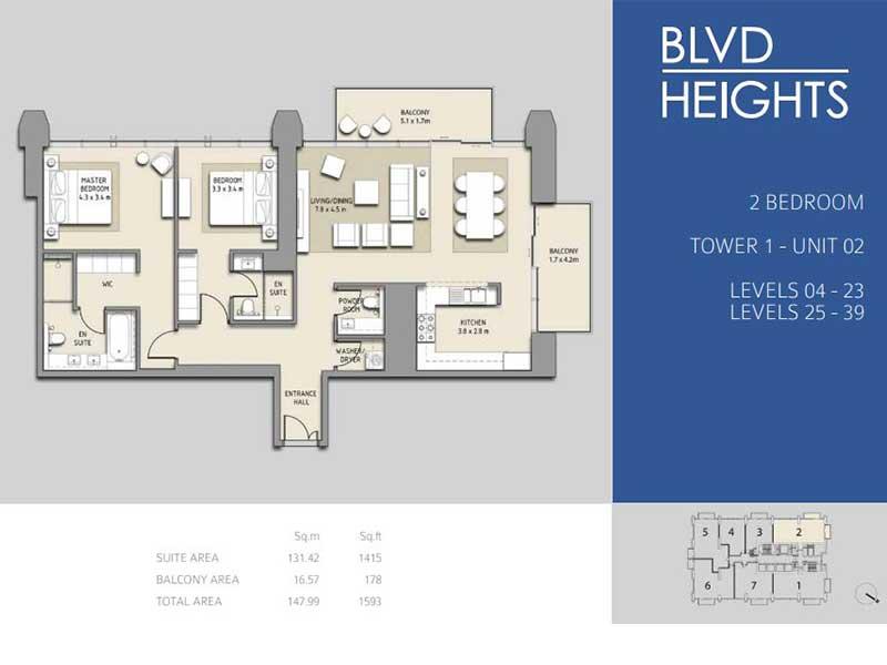 2 BEDROOM TOWER 1 - UNIT 02
