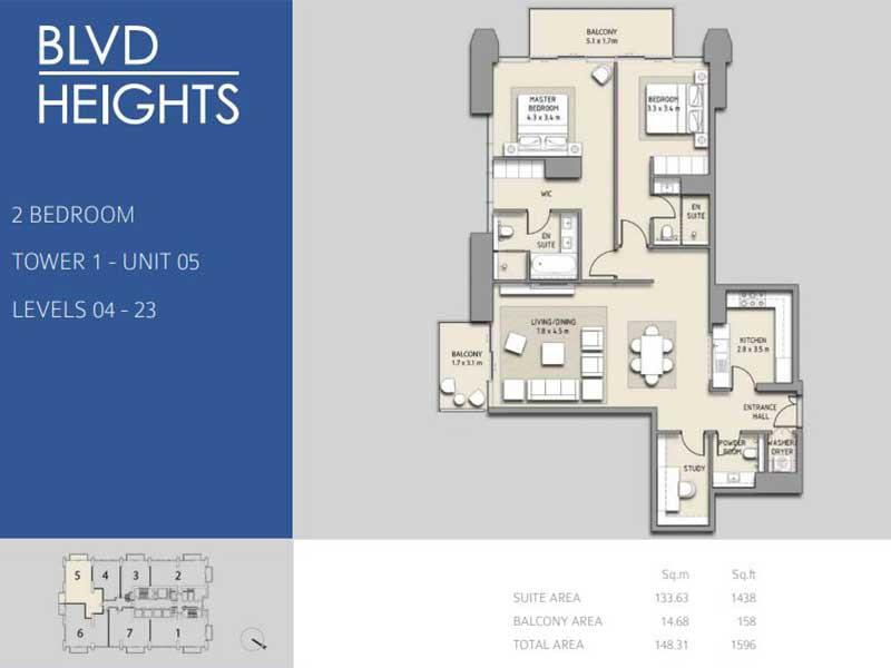 2 BEDROOM TOWER 1 - UNIT 05