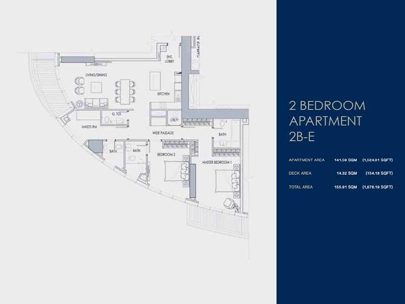 2 BEDROOM  APARTMENT  2B-E