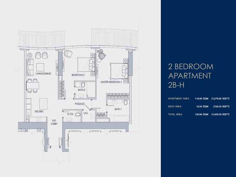 2 BEDROOM  APARTMENT  2B-H