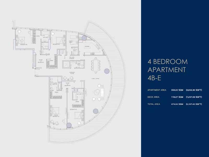 4 BEDROOM  APARTMENT  4B-E