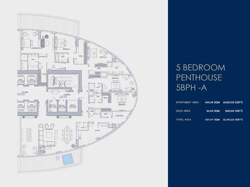 5 BEDROOM  PENTHOUSE  5BPH -A