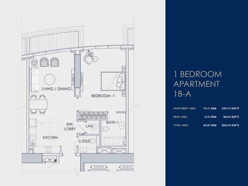 1 BEDROOM  APARTMENT  1B-A